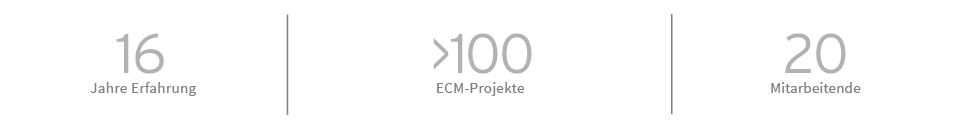 Enterprise Content Management bei SER in Zahlen