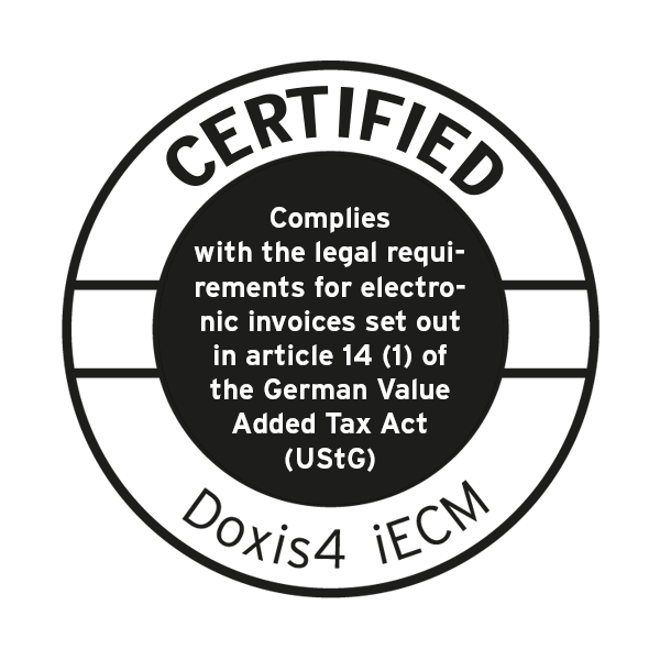 Doxis4 is ready for eInvoicing