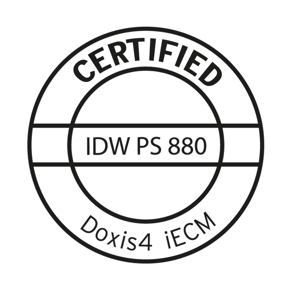 Deloitte & Touche 将 Doxis4 颁发 IDW PS 880 认证证书