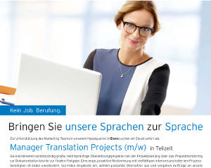 Manager Translation Projects (m/w)