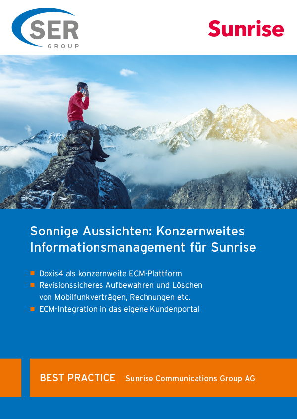 Sunrise: Konzernweites Informationsmanagement