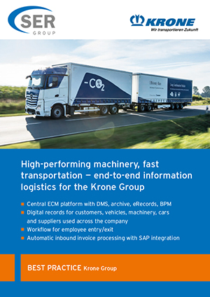 The Krone Group: High-performing machinery, fast transportation — end-to-end information logistics