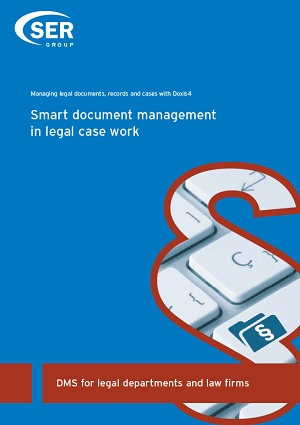 DMS for legal departments and law firms  Smart document management in legal case work