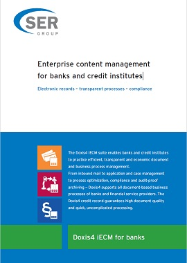 Enterprise content management for banks and credit institutes