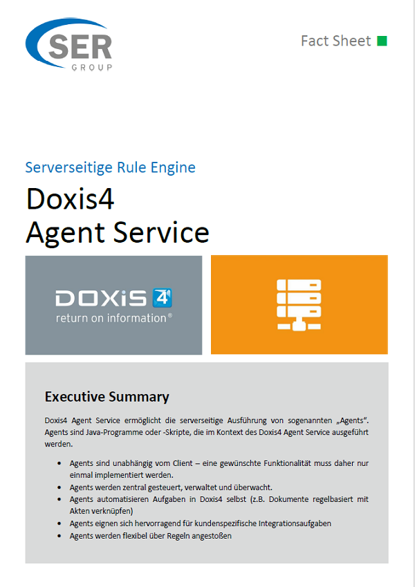 Serverseitige Rule Engine - Doxis4 Agent Service