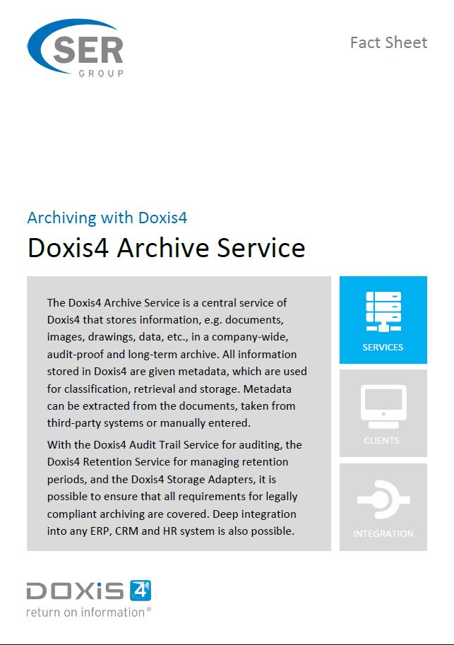 Doxis4 Archive Service - Archiving with Doxis4