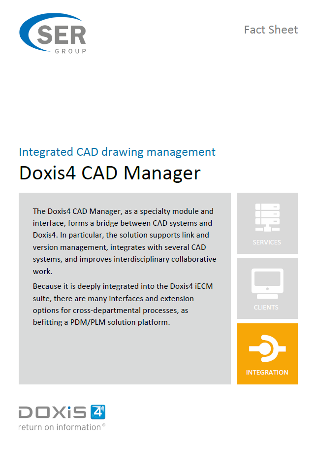 Doxis4 CAD Manager - Integrated CAD drawing management
