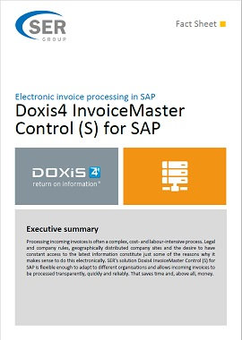 Doxis4 InvoiceMaster Control (S) for SAP