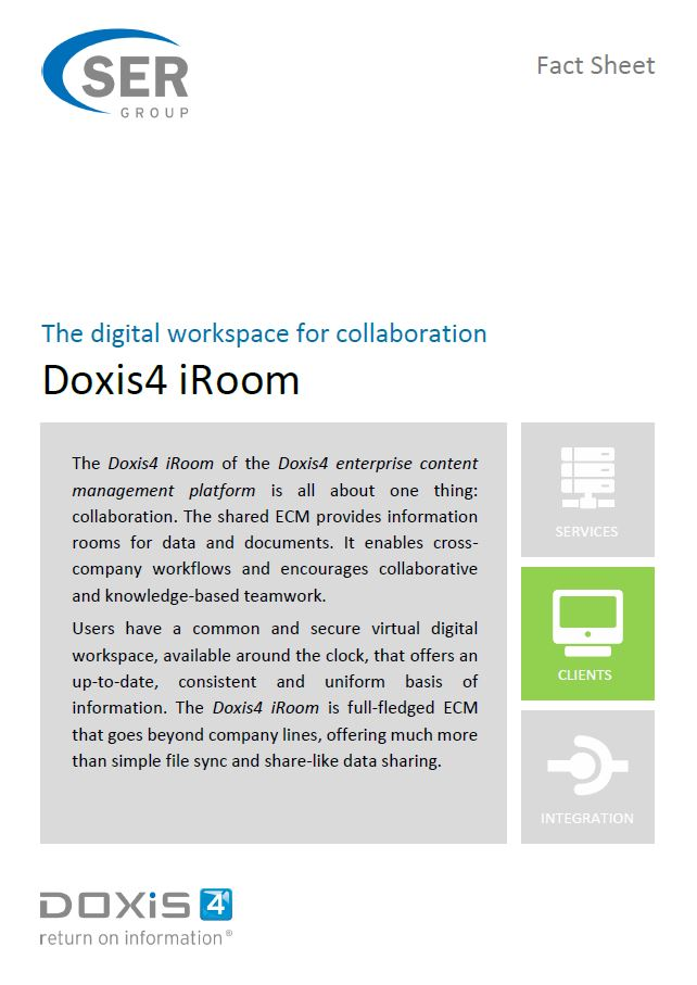 Doxis4 iRoom - The digital workspace for collaboration