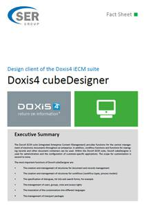 Design client of the Doxis4 iECM suite - Doxis4 cubeDesigner