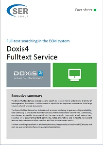 Full-text searching in the document management system - Doxis4 Fulltext Service