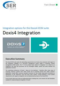 Doxis4 Integration - integration options for the Doxis4 iECM suite