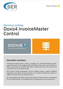 Doxis4 InvoiceMaster Control - processing incoming invoices
