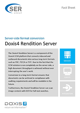 Doxis4 Rendition Server - server-side format conversion