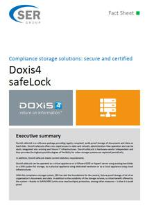Compliance storage solutions: secure and certified - Doxis4 safeLock