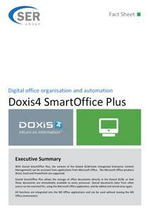 Digital office organisation and automation - Doxis4 SmartOffice Plus
