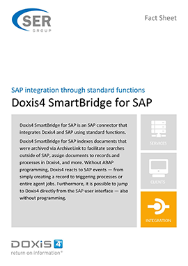 SAP integration through standard functions