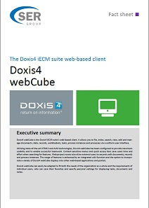 Web-based client of the Doxis4 iECM-Suite - Doxis4 webCube