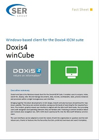 Windows based client of the Doxis4 iECM-Suite - Doxis4 winCube