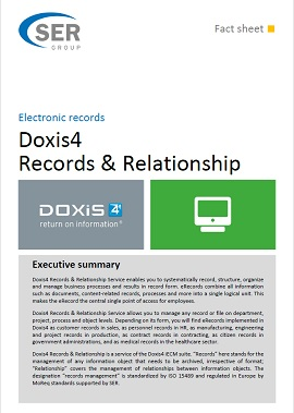 Electronic records - Doxis4 Records & Relationship