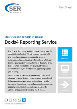 Doxis4 Reporting Service - Statistics and reports in Doxis4