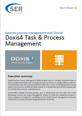 Business process management with Doxis4 - Doxis4 Task & Process Management