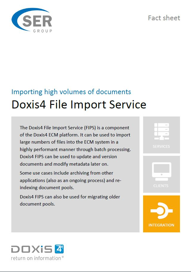Fact Sheet: Doxis4 File Import Service - Importing high