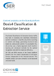 Doxis4 Classification & Extraction Service - Content Analytics on the Doxis4 platform