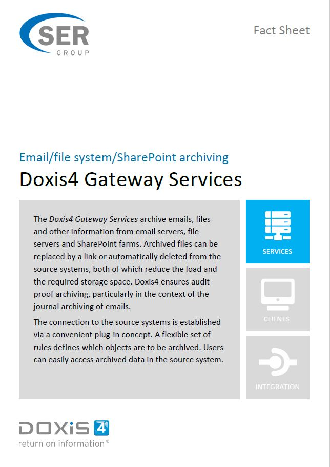 Doxis4 Gateway Services