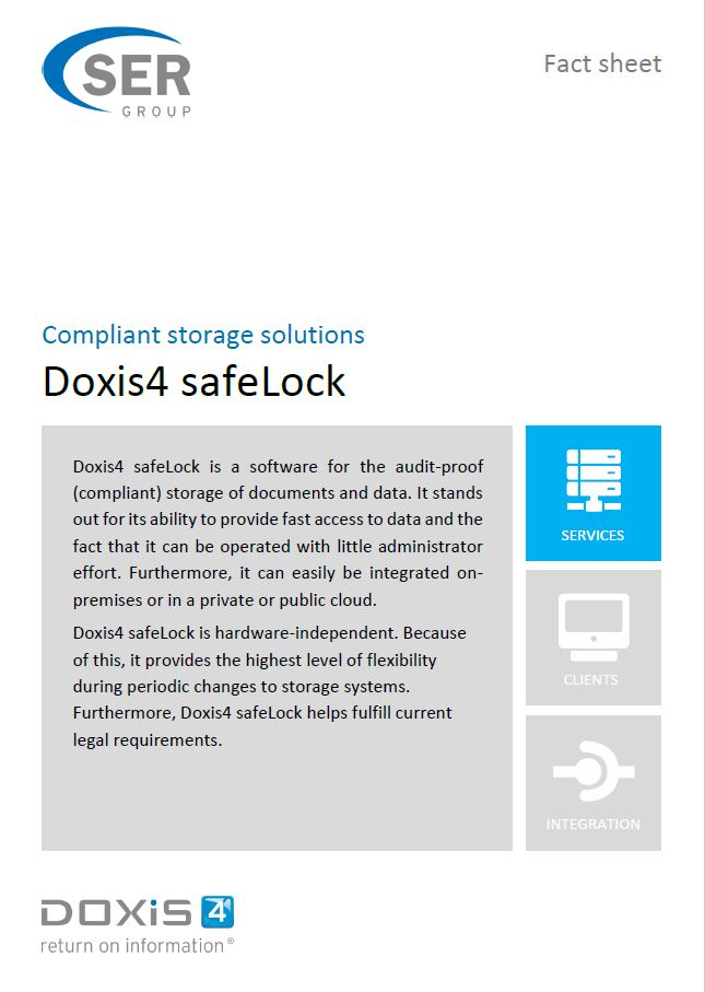 Doxis4 safeLock - compliance storage solutions: secure and certified