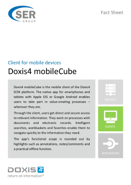 Doxis4 mobileCube - client for mobile devices