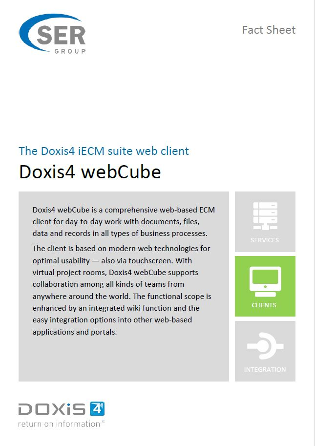 Doxis4 webCube - the web client of the Doxis4 platform