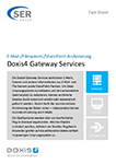 Doxis4 Gateway Services - E-Mail-/Filesystem-/SharePoint-Archivierung