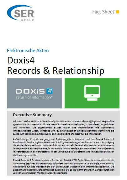 Elektronische Akten: Doxis4 Records & Relationship