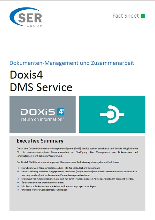 Fact Sheet: Doxis4 DMS Service