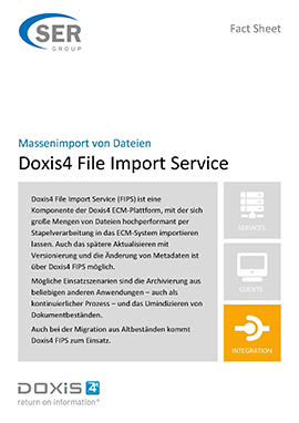 Massenimport von Dateien - Doxis4 File Import Service
