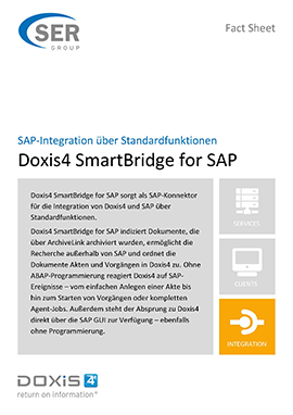 SAP-Integration über Standardfunktionen - Doxis4 SmartBridge for SAP