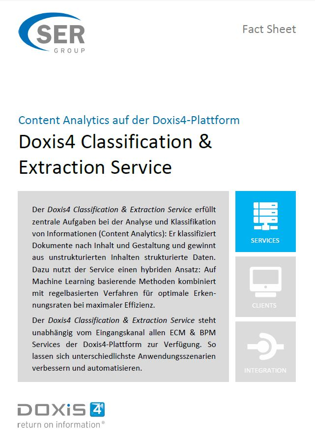 Doxis4 Classification & Extraction Service