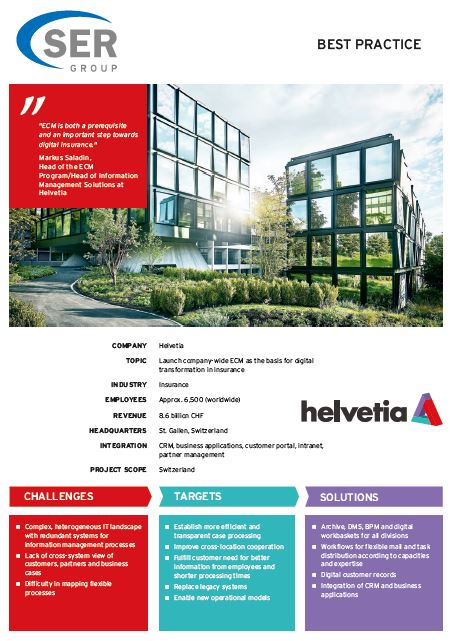 Helvetia: Launching company-wide ECM for digital transformation in insurance