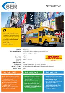 DHL Express: From archiving delivery notes to a global, multifunctional document management system