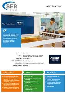 Grohe Ag best practice: grohe ag: international ecm — from the sap archive to