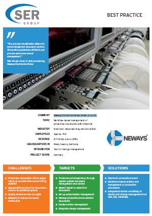 Neways Electronics Riesa GmbH & Co. KG: Workflow-based management of production documents with eRecords.