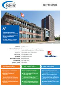 Westfalen group: From automated document scanning and paperless transaction processing to a link to customer websites