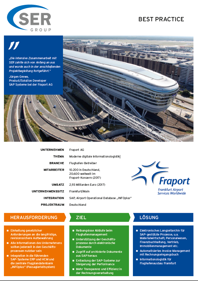 Fraport AG: Moderne digitale Informationslogistik