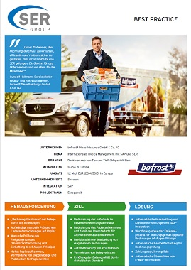 Internationales Invoice Management mit SAP und SER bei bofrost*