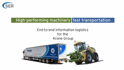 End-to-end information logistics for the Krone Group