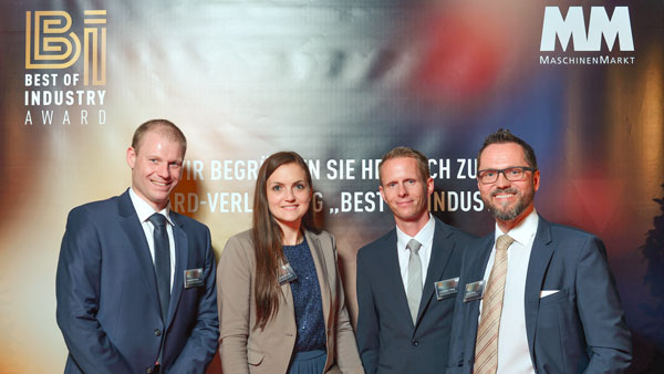 Alexander Maute, Head of IT, Luciana Della Rocca, Marketing Manager, and Cornelius Hilbig, Head of Digital Services/IT at Eissmann Group Automotive as well as Roman Suchy, ECM solution architect at SER