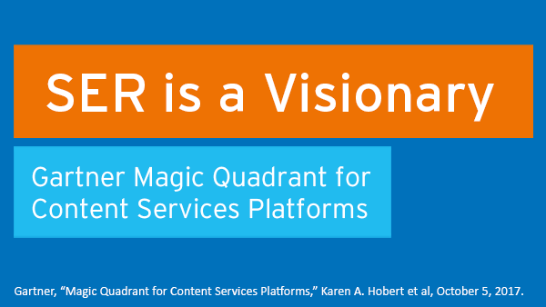 Neuer Gartner Magic Quadrant for Content Services Platforms